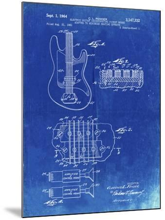 PP49 Faded Blueprint-Borders Cole-Mounted Giclee Print