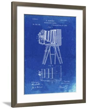 PP33 Faded Blueprint-Borders Cole-Framed Giclee Print