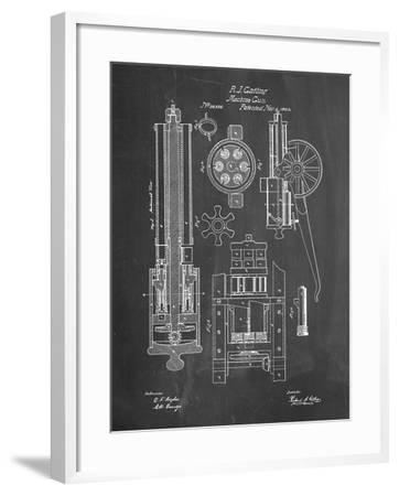 PP23 Chalkboard-Borders Cole-Framed Giclee Print