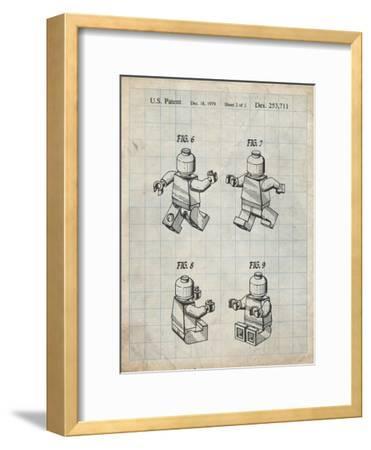 PP50 Antique Grid Parchment-Borders Cole-Framed Premium Giclee Print