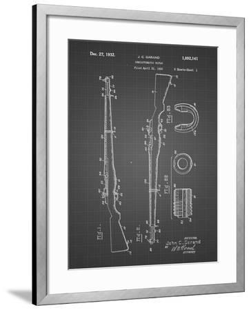 PP35 Black Grid-Borders Cole-Framed Giclee Print