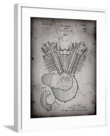 PP24 Faded Grey-Borders Cole-Framed Giclee Print