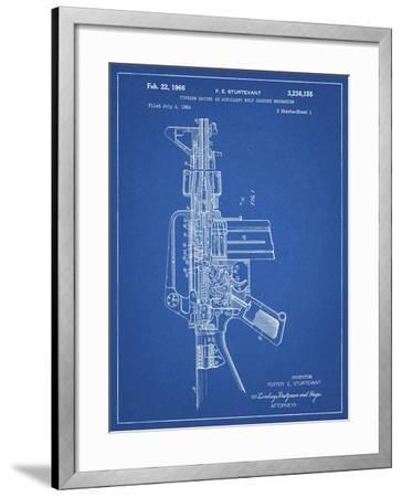 PP44 Blueprint-Borders Cole-Framed Giclee Print