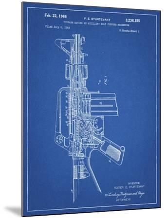 PP44 Blueprint-Borders Cole-Mounted Giclee Print