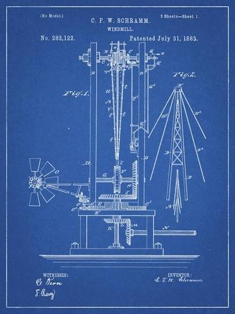 PP26 Blueprint-Borders Cole-Framed Giclee Print