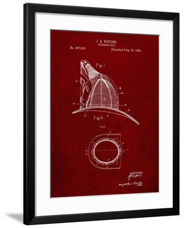 PP38 Burgundy-Borders Cole-Framed Giclee Print