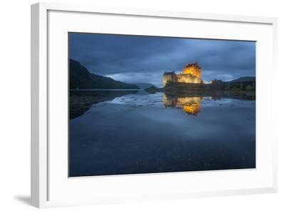 Castle On An Island In Scotland-Philippe Manguin-Framed Photographic Print