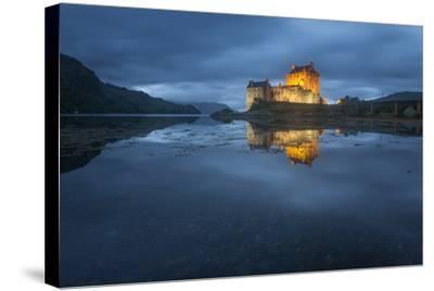 Castle On An Island In Scotland-Philippe Manguin-Stretched Canvas Print