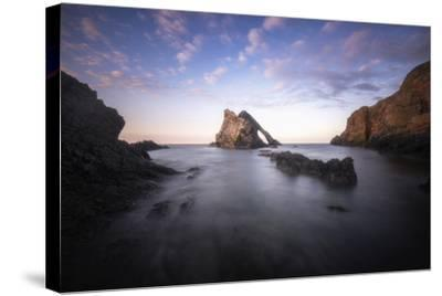 Bow Fiddle Rock In Scotland Sea-Philippe Manguin-Stretched Canvas Print
