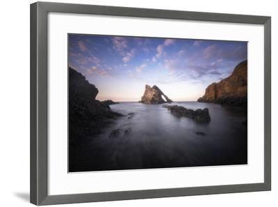 Bow Fiddle Rock In Scotland Sea-Philippe Manguin-Framed Photographic Print
