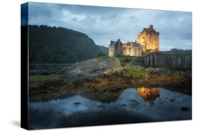 Eilean Donan Castle In Scotland-Philippe Manguin-Stretched Canvas Print