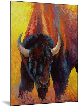 Back Off Bison-Marion Rose-Mounted Giclee Print