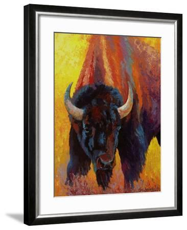 Back Off Bison-Marion Rose-Framed Giclee Print