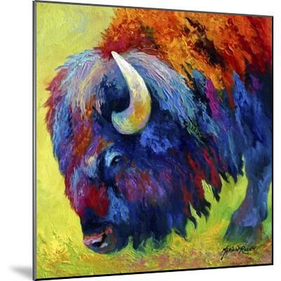 Bison Portrait II-Marion Rose-Mounted Giclee Print