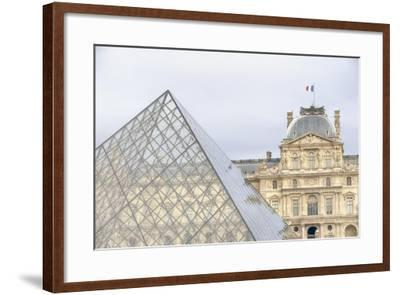Louvre Palace And Pyramid II-Cora Niele-Framed Giclee Print