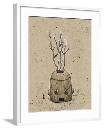 Ink Marker Bot Tree Pot-Craig Snodgrass-Framed Giclee Print