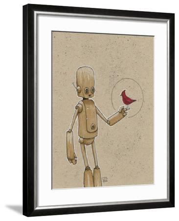 Ink Marker Bot Cardinal-Craig Snodgrass-Framed Giclee Print