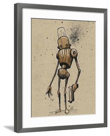 Ink Marker Bot Gunman-Craig Snodgrass-Framed Giclee Print