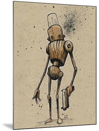 Ink Marker Bot Gunman-Craig Snodgrass-Mounted Giclee Print