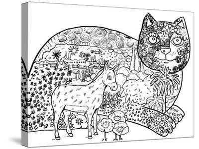 1 The Entrance Of Jerusalem: LINE ART-Oxana Zaika-Stretched Canvas Print