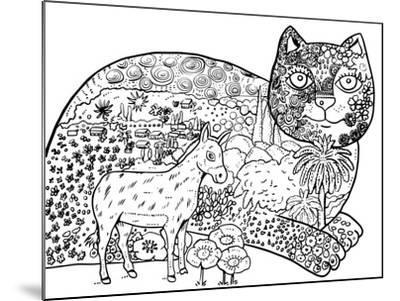 1 The Entrance Of Jerusalem: LINE ART-Oxana Zaika-Mounted Giclee Print