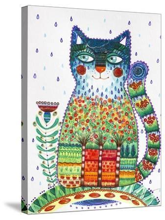 1 Rain Cat-Oxana Zaika-Stretched Canvas Print