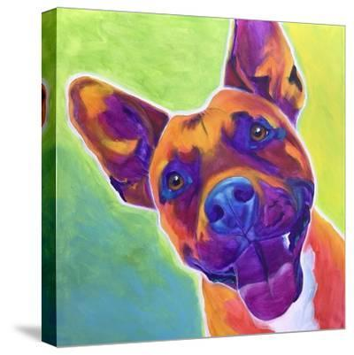 Pit Bull - Billy-Dawgart-Stretched Canvas Print