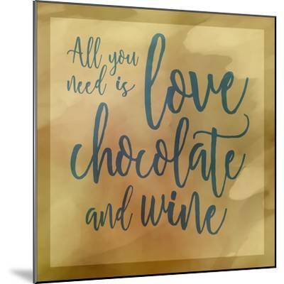 Love, Chocolate And Wine-Cora Niele-Mounted Giclee Print