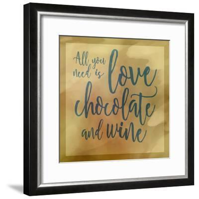 Love, Chocolate And Wine-Cora Niele-Framed Giclee Print