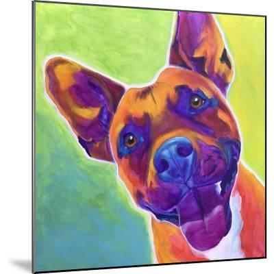 Pit Bull - Billy-Dawgart-Mounted Giclee Print