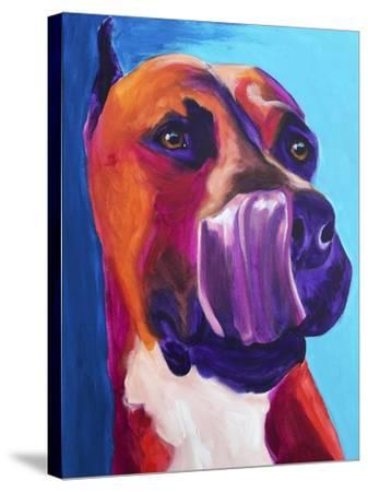 Pit Bull - Tasty-Dawgart-Stretched Canvas Print
