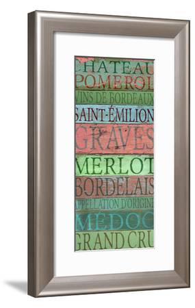 Bordeaux Wines-Cora Niele-Framed Giclee Print