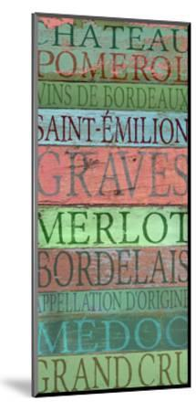 Bordeaux Wines-Cora Niele-Mounted Giclee Print
