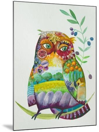 Owl From Provence-Oxana Zaika-Mounted Giclee Print
