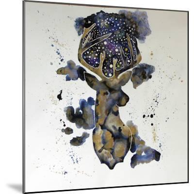 Starry Night Deer-Lauren Moss-Mounted Giclee Print