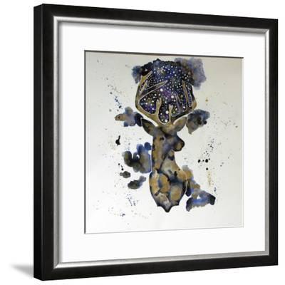 Starry Night Deer-Lauren Moss-Framed Giclee Print