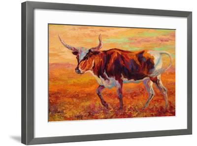 Longhorn Heifer-Marion Rose-Framed Giclee Print