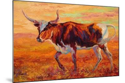 Longhorn Heifer-Marion Rose-Mounted Giclee Print