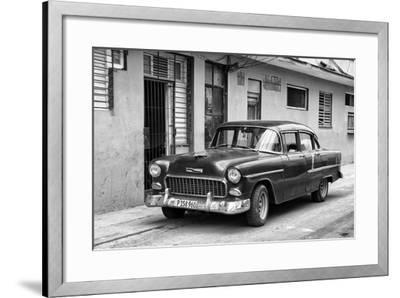 Cuba Fuerte Collection B&W - Old Antique Car in Havana VIII-Philippe Hugonnard-Framed Photographic Print