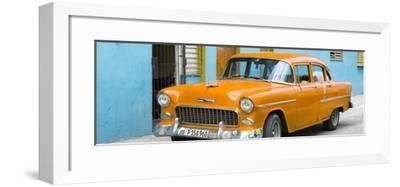 Cuba Fuerte Collection Panoramic - Beautiful Classic American Orange Car-Philippe Hugonnard-Framed Photographic Print