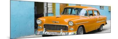 Cuba Fuerte Collection Panoramic - Beautiful Classic American Orange Car-Philippe Hugonnard-Mounted Photographic Print