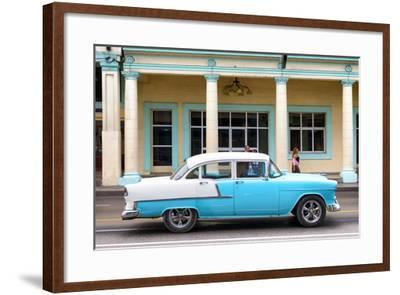 Cuba Fuerte Collection - Blue Vintage Car-Philippe Hugonnard-Framed Photographic Print