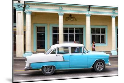 Cuba Fuerte Collection - Blue Vintage Car-Philippe Hugonnard-Mounted Photographic Print