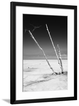 Cuba Fuerte Collection B&W - Alone in the Ocean-Philippe Hugonnard-Framed Photographic Print