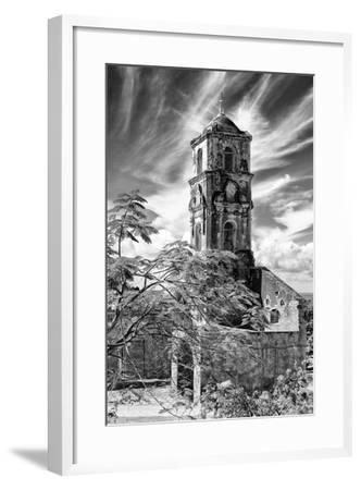 Cuba Fuerte Collection B&W - Church of Santa Ana in Trinidad IV-Philippe Hugonnard-Framed Photographic Print