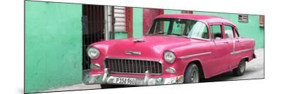 Cuba Fuerte Collection Panoramic - Beautiful Classic American Pink Car-Philippe Hugonnard-Mounted Photographic Print