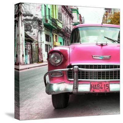 Cuba Fuerte Collection SQ - Detail on Pink Classic Chevrolet-Philippe Hugonnard-Stretched Canvas Print