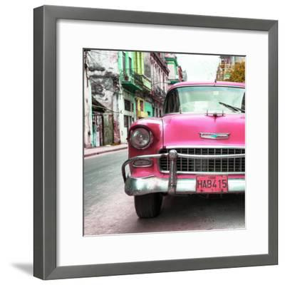 Cuba Fuerte Collection SQ - Detail on Pink Classic Chevrolet-Philippe Hugonnard-Framed Photographic Print