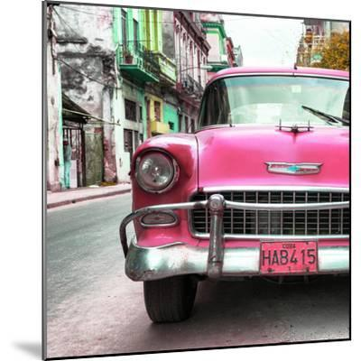 Cuba Fuerte Collection SQ - Detail on Pink Classic Chevrolet-Philippe Hugonnard-Mounted Photographic Print