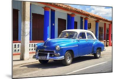 Cuba Fuerte Collection - Cuban Blue Car-Philippe Hugonnard-Mounted Photographic Print